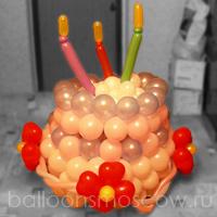 Как сделать из шариков на день рождения